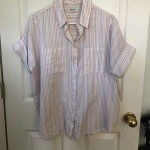 Madewell Rainbow Striped Button Up